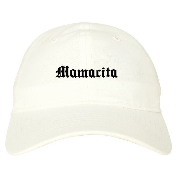 Mamacita Mama Mom Life white dad hat