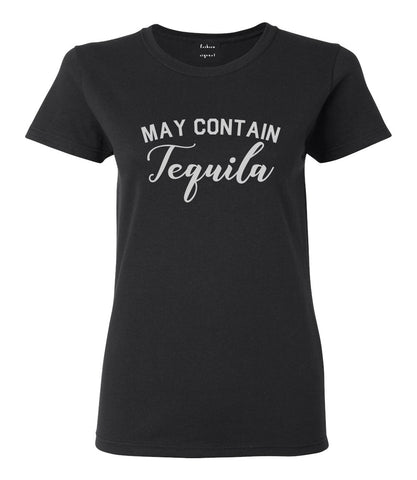 May Contain Tequila Mexico Vacation Black T-Shirt