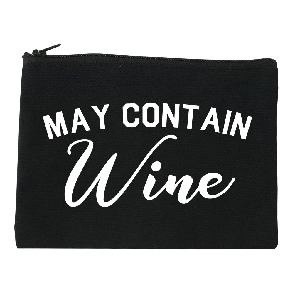 May Contain Wine Bachelorette Party Black Makeup Bag