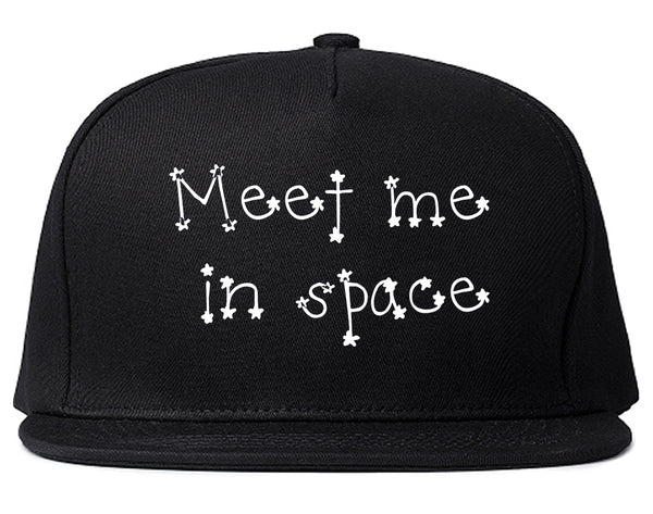 Meet Me In Space Snapback Hat Black