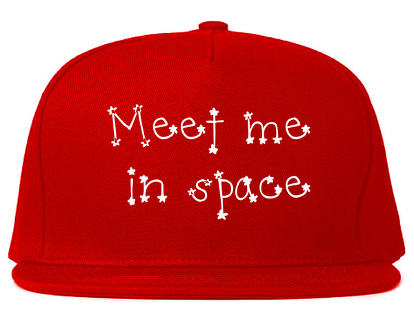 Meet Me In Space Snapback Hat Red