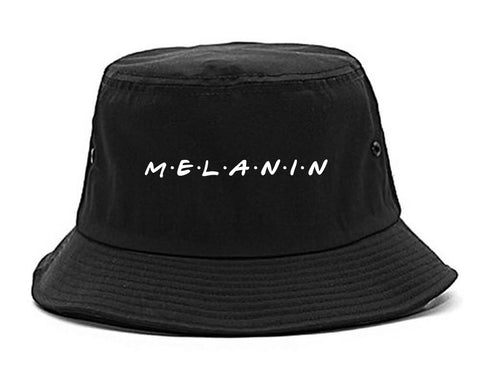Melanin Friends Magic Bucket Hat Black