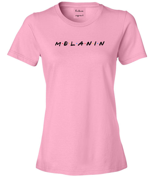 Melanin Friends Magic Womens Graphic T-Shirt Pink
