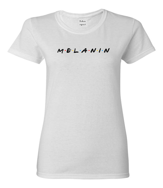 Melanin Friends Magic Womens Graphic T-Shirt White