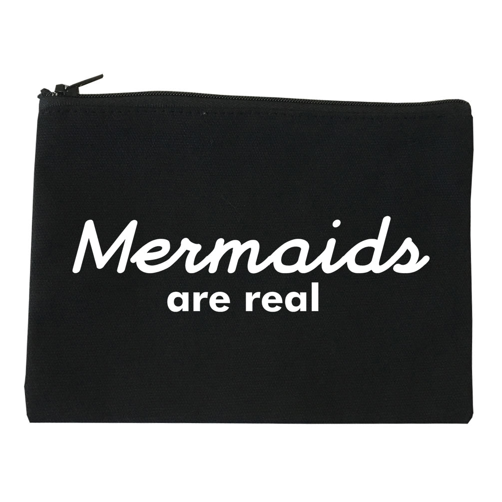 Mermaids Are Real Makeup Bag Red