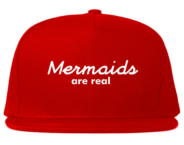 Mermaids Are Real Snapback Hat Red