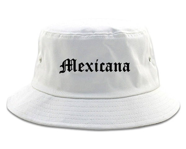 Mexicana Mexican Bucket Hat White