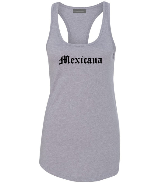 Mexicana Mexican Womens Racerback Tank Top Grey