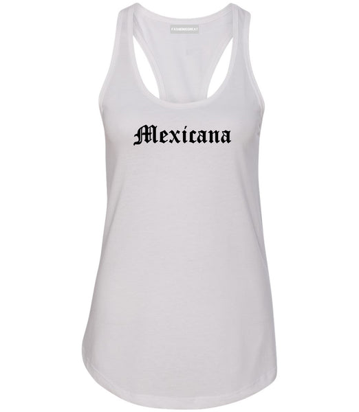 Mexicana Mexican Womens Racerback Tank Top White