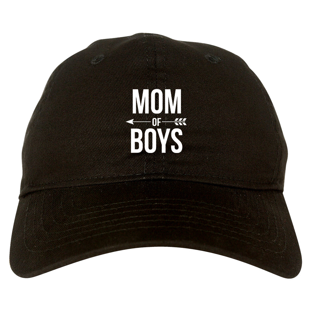 Mom Of Boys Arrow black dad hat