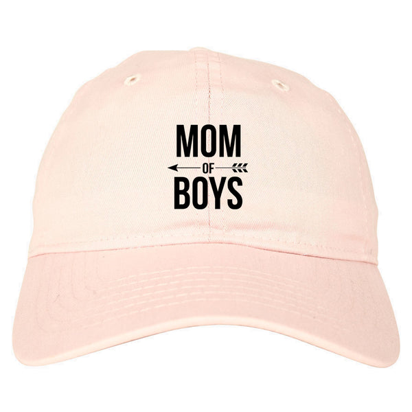 Mom Of Boys Arrow pink dad hat