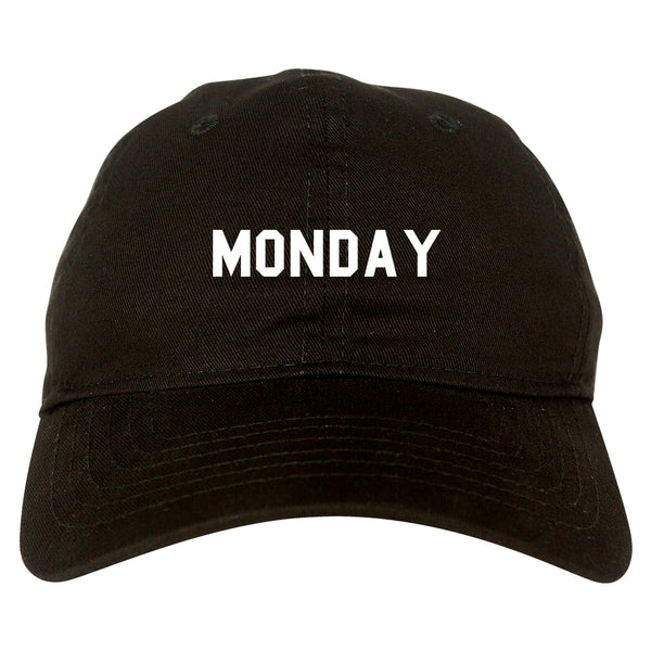 Monday Days Of The Week black dad hat