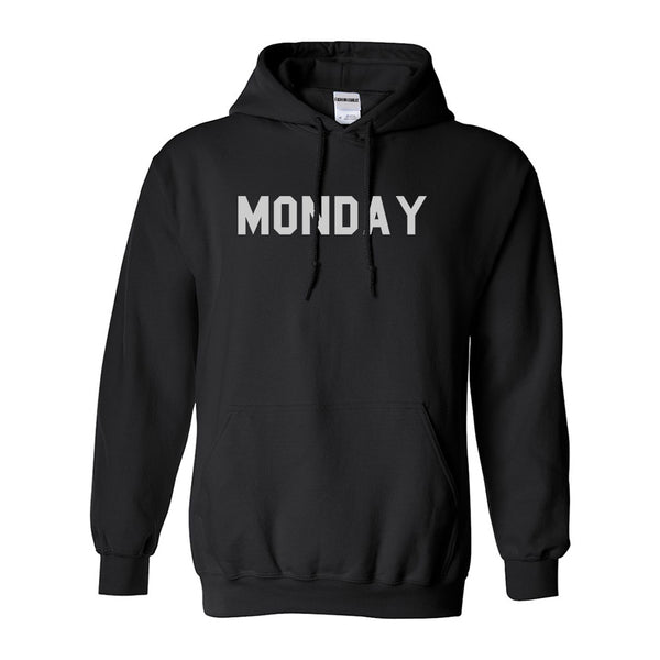 Monday Days Of The Week Black Womens Pullover Hoodie