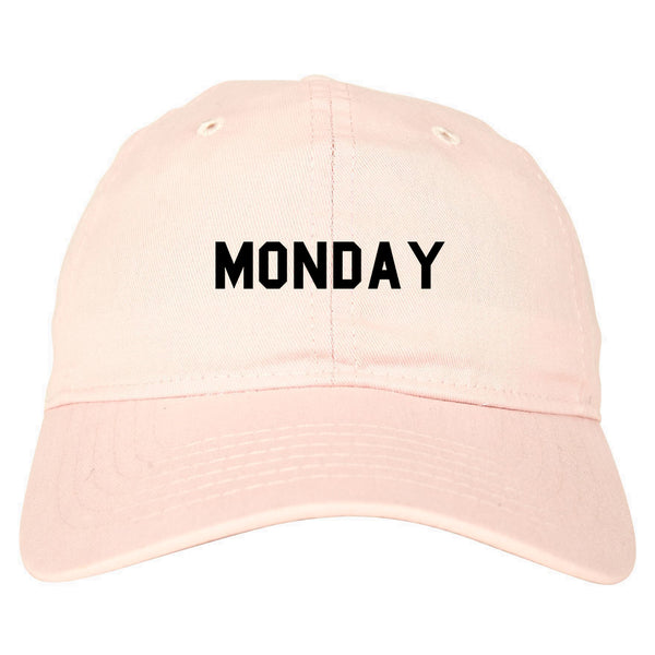 Monday Days Of The Week pink dad hat