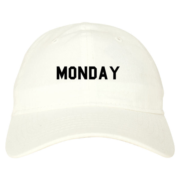 Monday Days Of The Week white dad hat
