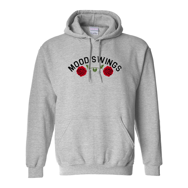 Mood Swings Roses Grey Womens Pullover Hoodie