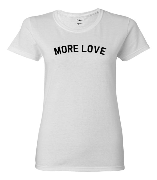 More Love Hippie White T-Shirt