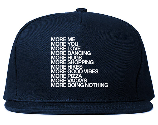 More Me More You Snapback Hat Blue