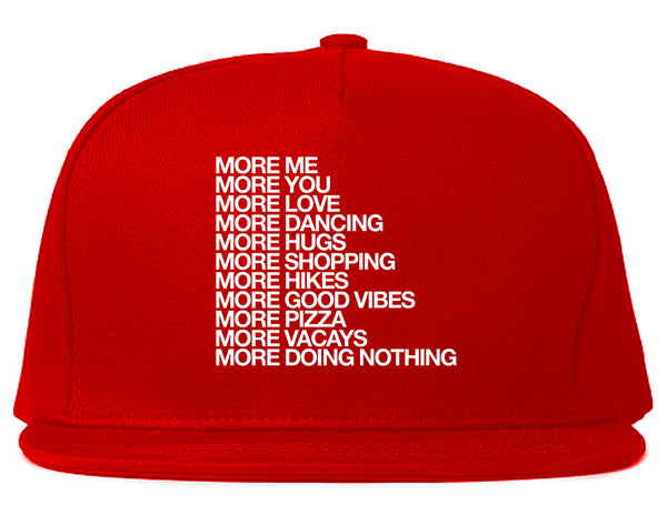 More Me More You Snapback Hat Red