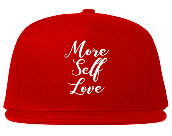 More Self Love Red Snapback Hat