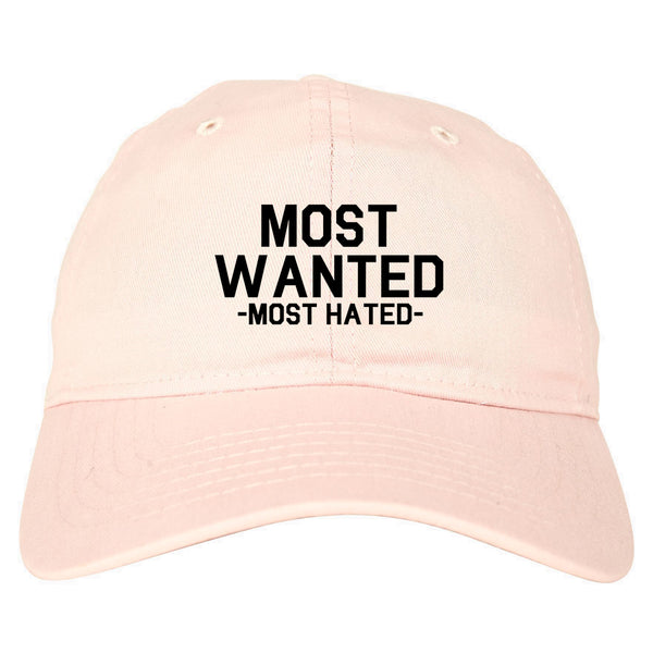 Most Wanted Most Hated pink dad hat