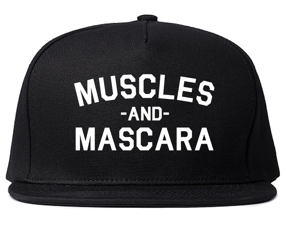 Muscles And Mascara Workout Gym Black Snapback Hat