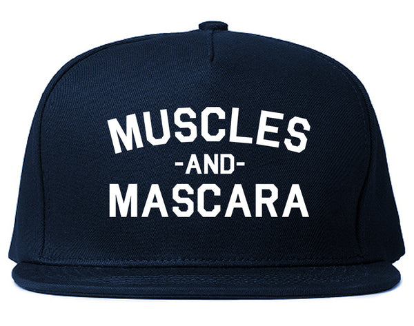 Muscles And Mascara Workout Gym Blue Snapback Hat