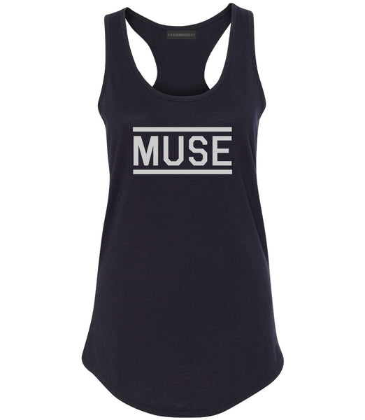 Muse Woman Womens Racerback Tank Top Black