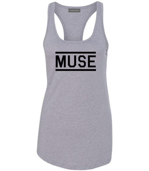 Muse Woman Womens Racerback Tank Top Grey