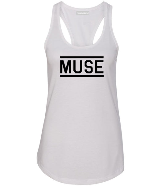 Muse Woman Womens Racerback Tank Top White