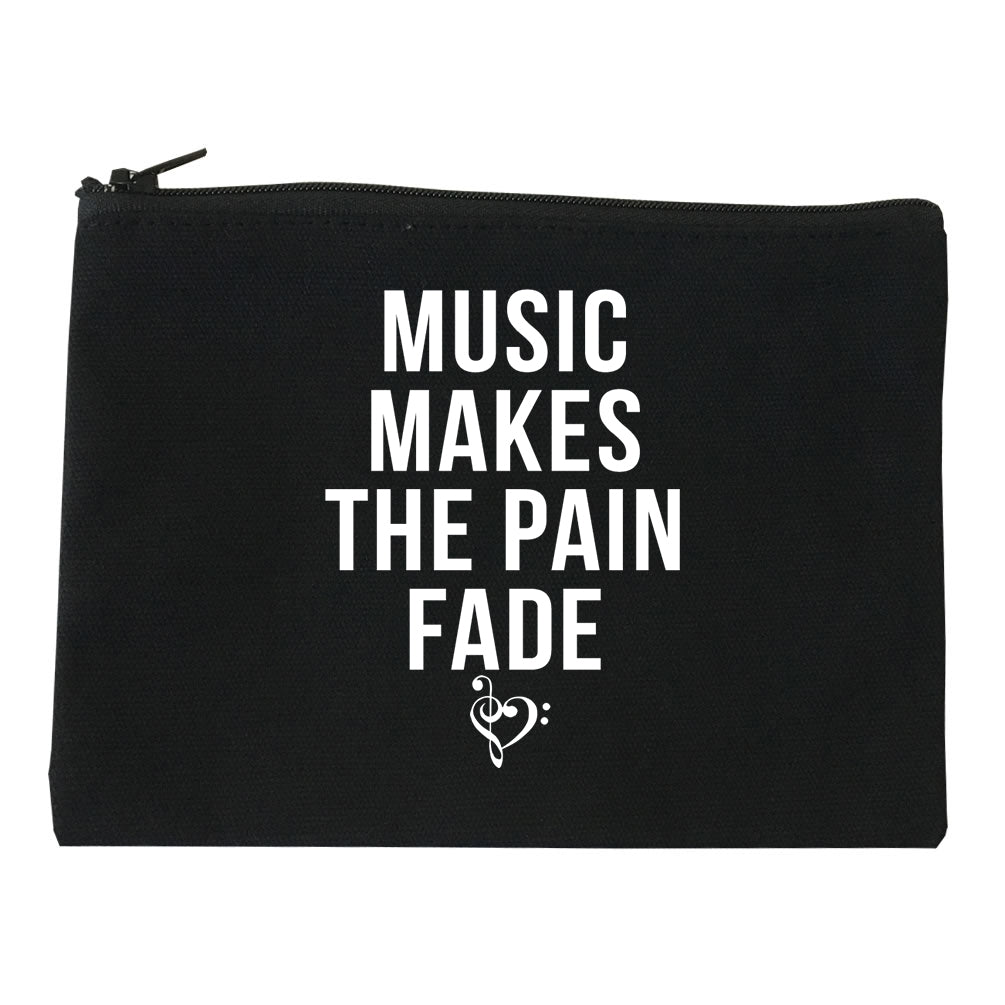 Music Makes The Pain Fade Makeup Bag Red