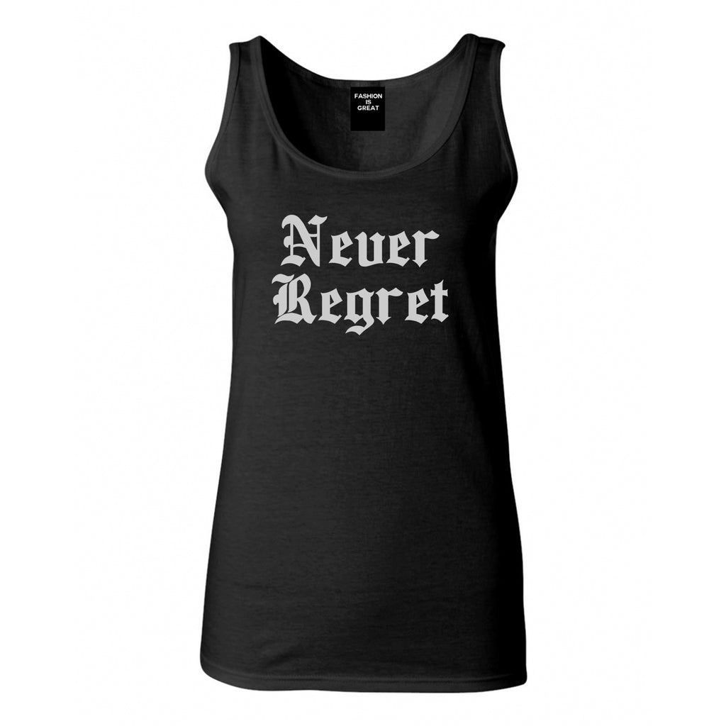 Never Regret Black Womens Tank Top