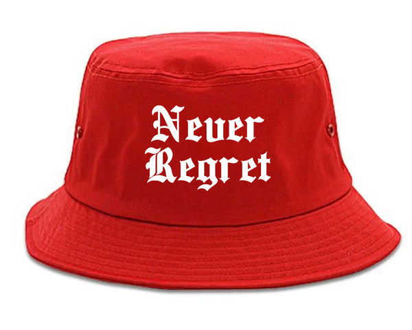 Never Regret red Bucket Hat