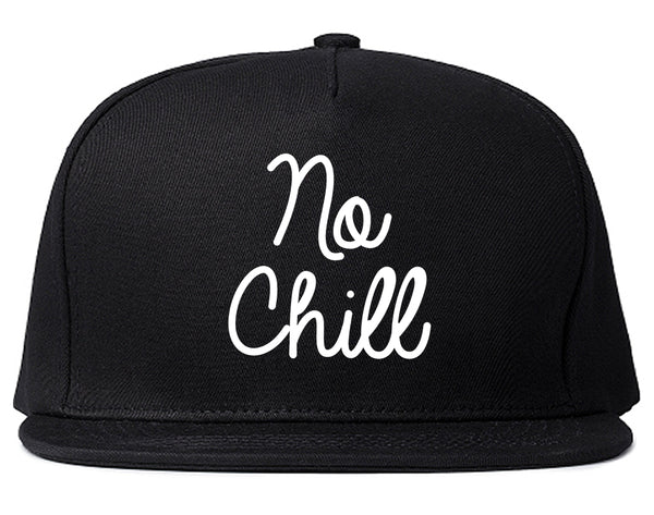 No Chill Funny Vibes Chest Black Snapback Hat