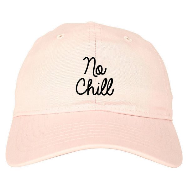 No Chill Funny Vibes Chest pink dad hat