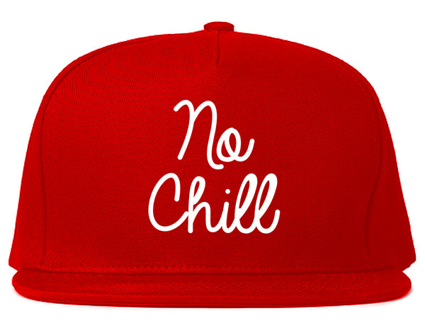 No Chill Funny Vibes Chest Red Snapback Hat