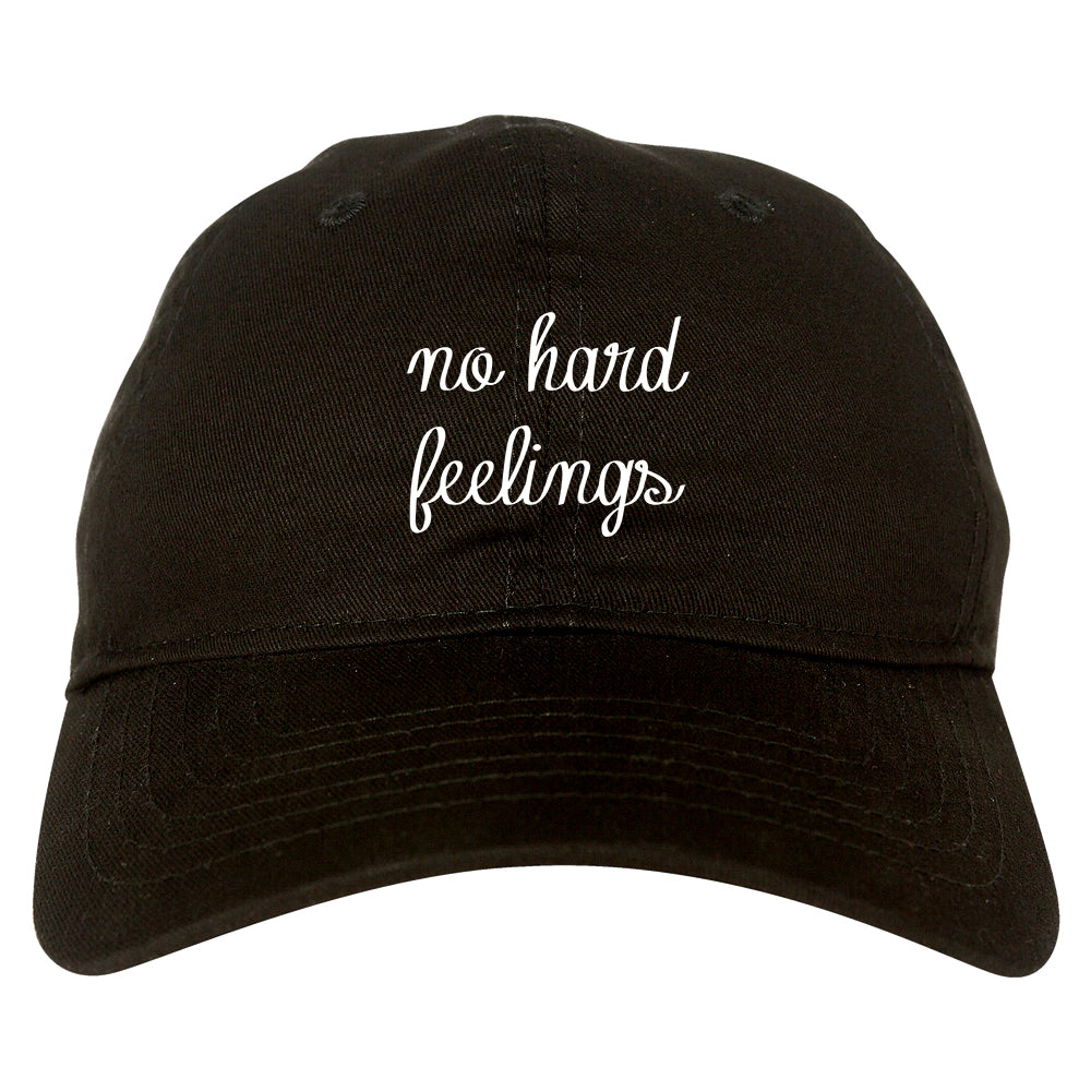 No Hard Feelings Chest black dad hat