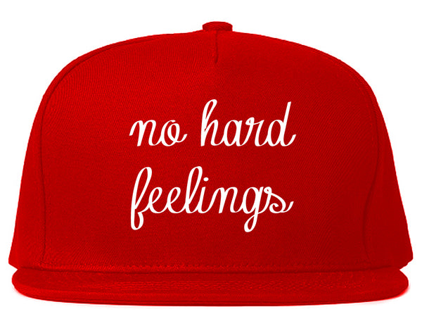 No Hard Feelings Chest Red Snapback Hat