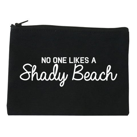 No One Likes A Shady Beach Funny Vacation Makeup Bag Red