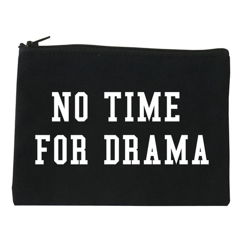 No Time For Drama Black Makeup Bag