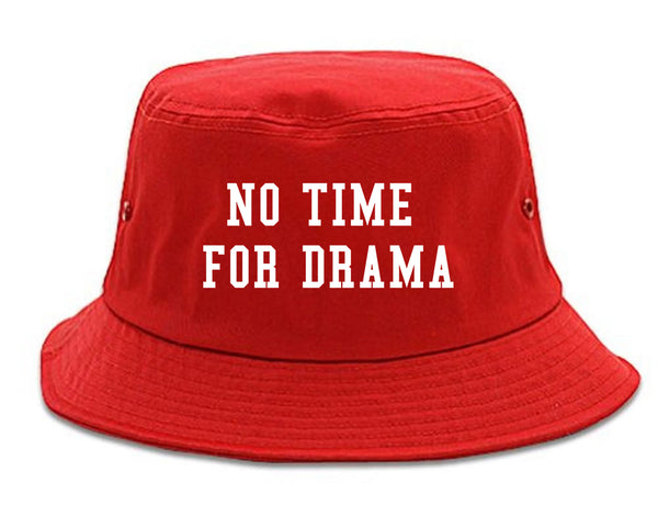 No Time For Drama Red Bucket Hat