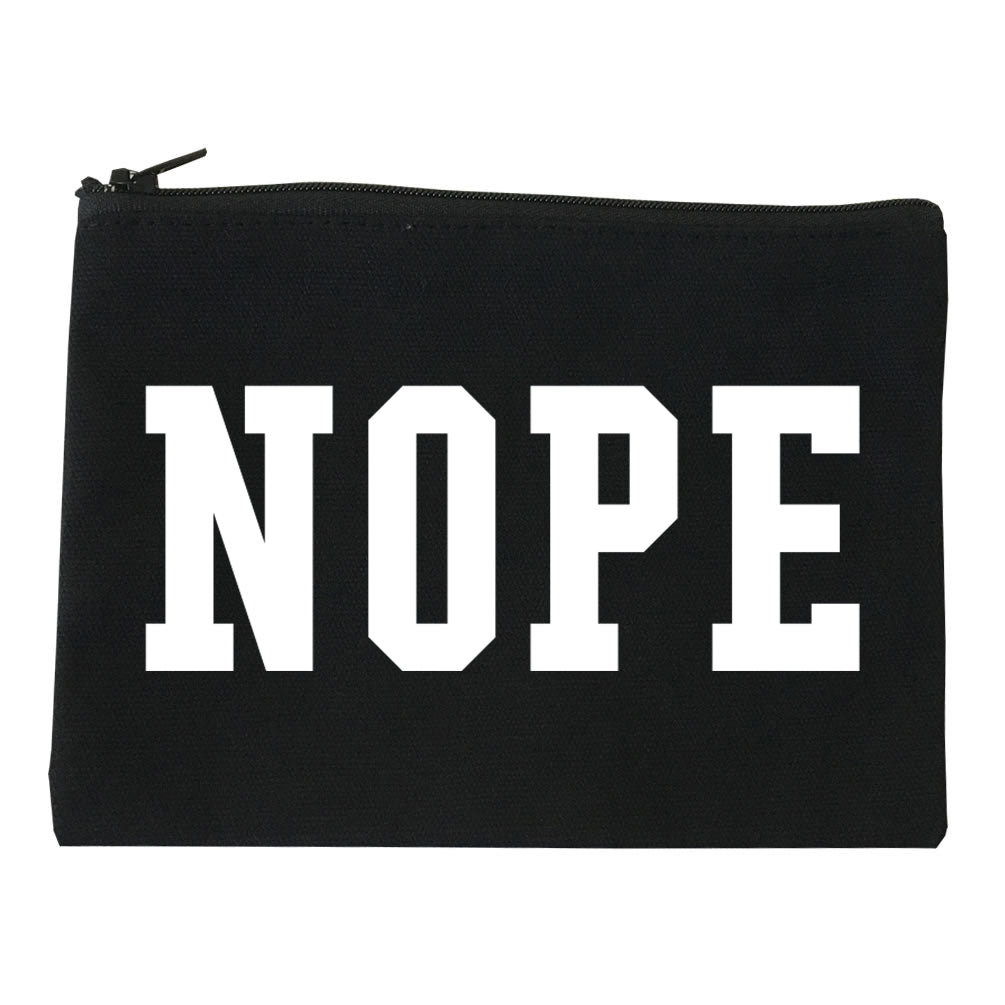 Nope College Font Makeup Bag Red