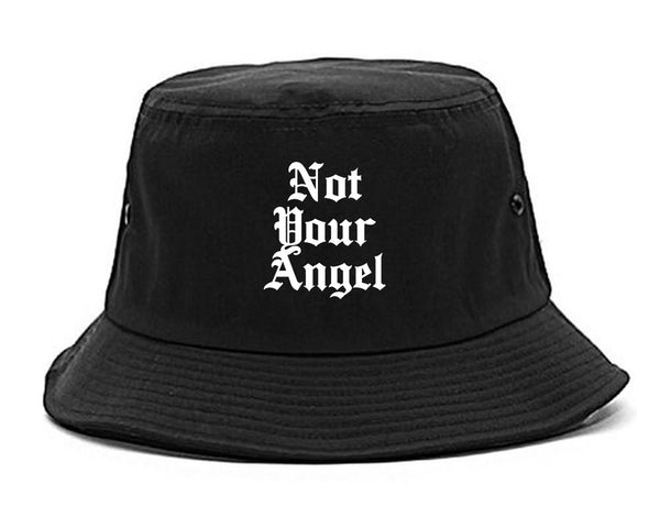 Not Your Angel Goth black Bucket Hat