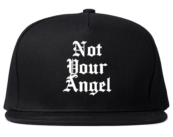 Not Your Angel Goth Black Snapback Hat
