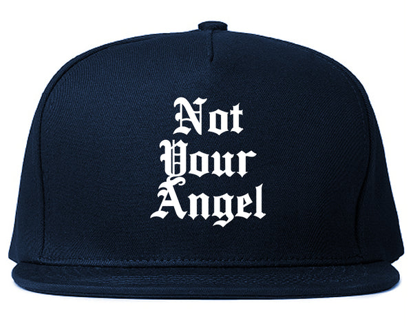 Not Your Angel Goth Blue Snapback Hat