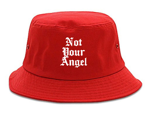 Not Your Angel Goth red Bucket Hat