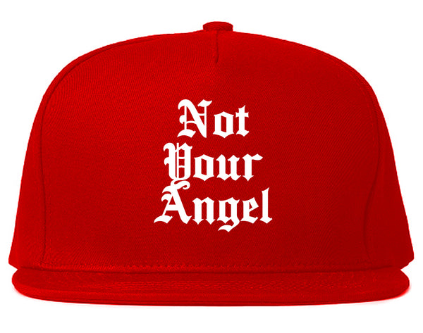 Not Your Angel Goth Red Snapback Hat
