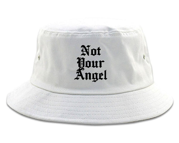 Not Your Angel Goth white Bucket Hat