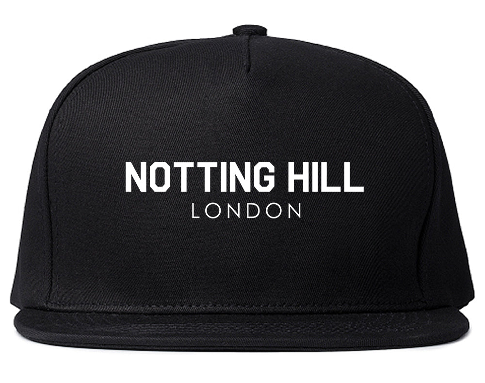 Notting Hill London Snapback Hat Black