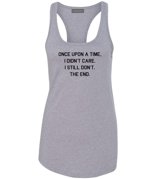 Once Upon A Time Grey Womens Racerback Tank Top